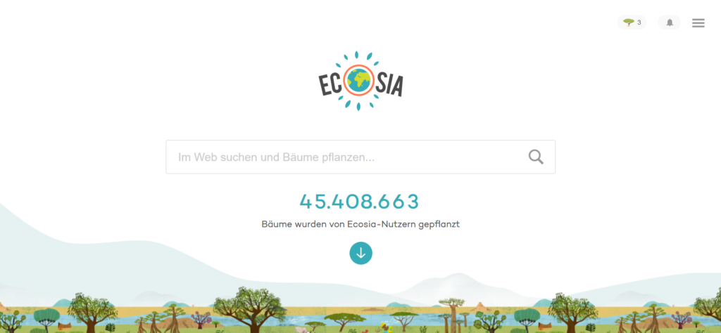 Ecosia – Die Suchmaschine, die Bäume pflanzt