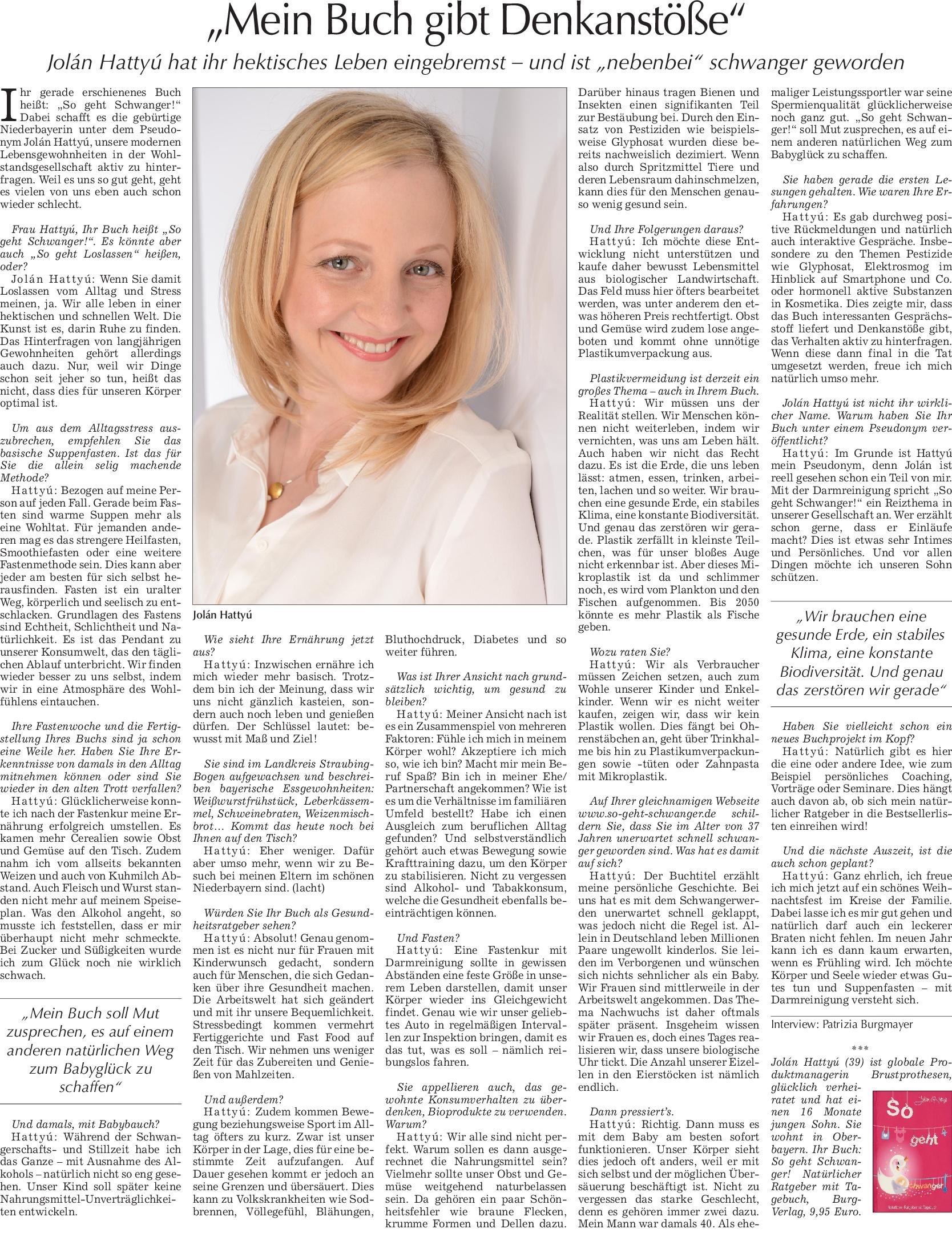 Interview Mediengruppe Straubinger Tagblatt/Landshuter Zeitung
